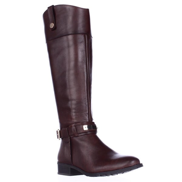 I35 Fabbaa Ankle Strap Riding Boots, Cappuccino