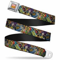 Marvel Comics Marvel Comics Logo Full Color Retro Luke Cage Comic Scene Seatbelt Belt