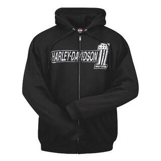 Harley-Davidson Men's #1 TNT Zippered Hooded Sweatshirt, Black R001826