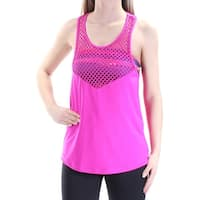 Womens Pink Sleeveless Scoop Neck Casual Top  Size  S