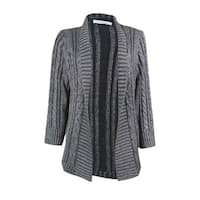 Charter Club Women's Open Front Metallic Cardigan Sweater