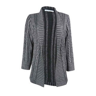 Charter Club Women's Open Front Metallic Cardigan Sweater