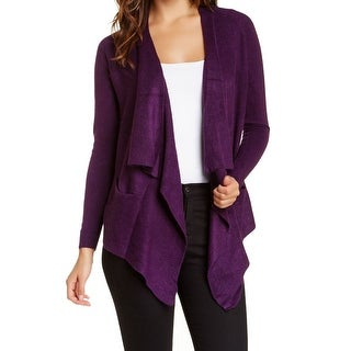 Sweet Romeo NEW Purple Size Small S Junior Draped Cardigan Sweater