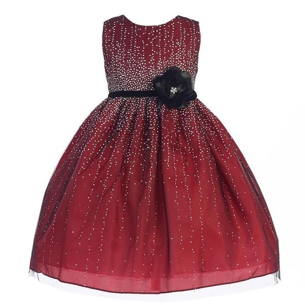 6259769d837 Shop Crayon Kids Girls Red Velvet Flower Sash Sequin Christmas Dress - Free  Shipping Today - Overstock - 18169693