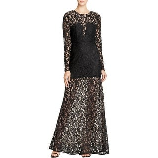 BCBG Max Azria Womens Veira Formal Dress Long Sleeves Illusion Lace (3 options available)