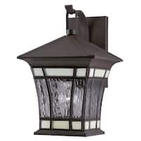 "Westinghouse 6486500 14"" Tall 1 Light Outdoor Lantern Wall Sconce from the Riverbend Collection"