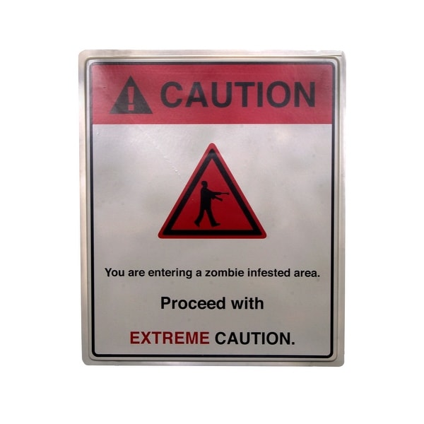 "19 x 16"" Caution Extreme Sign Halloween Prop Indoor & Outdoor"