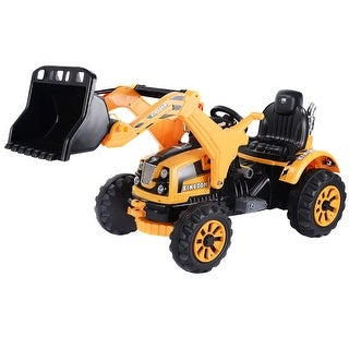 Link to 12 V Battery Powered Kids Ride on Dumper Truck - Yellow Similar Items in Bicycles, Ride-On Toys & Scooters