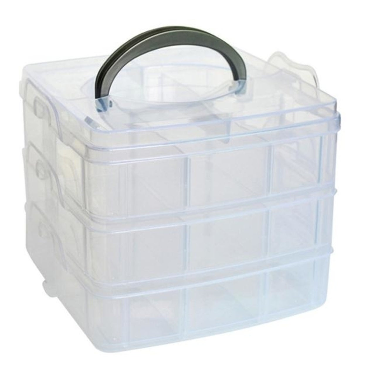 4.5x4.3x0.98 inches Rosmall Clear Box Jewelry DIY Things Organizer Storage Box Case Bead Makeup Container