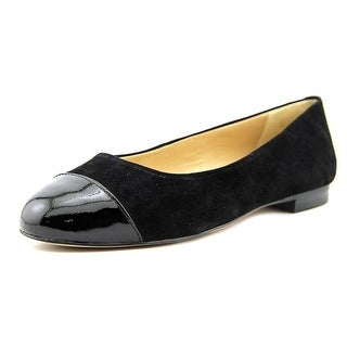 Trotters Chic Women N/S Round Toe Suede Black Flats