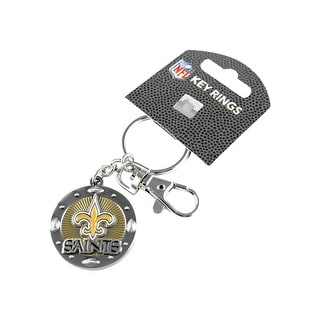 New Orleans Saints NFL Impact Metal Key Ring Keychain