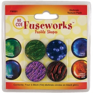 """Fuseworks Dichroic Glass Texture Pack 1"""" 4/Pkg-Assorted"""