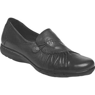 Rockport Women's Cobb Hill Paulette Black Full Grain Leather
