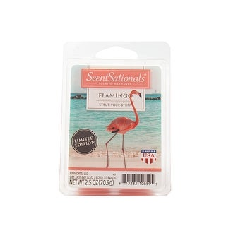 Scentsationals Flamingo 2.5 oz Fragrant Wax Melts, 6 Scented Wax Cubes - 4 Pack