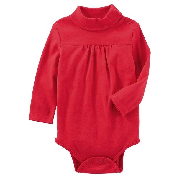3764a2fec1f9 Shop OshKosh B gosh Baby Girls  Classic Turtleneck Bodysuit- Red- 18 ...