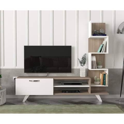 Gazelle TV Unit White-Beige