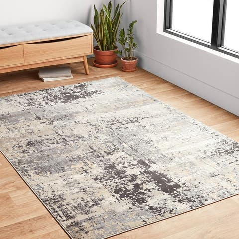 Alexander Home Heather Modern Granite & Marble Area Rug