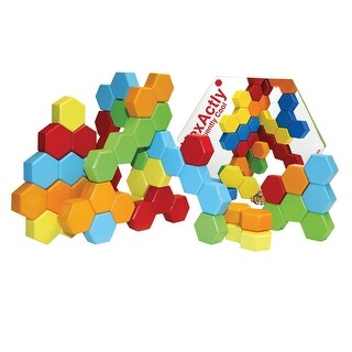 Fat Brain Toys Hexactly Pattern And Puzzle Game - multi
