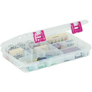 "10.875""X7.25""X1.625"" Clear W/Magenta Creative Options Pro Latch 6-20 Compartment"