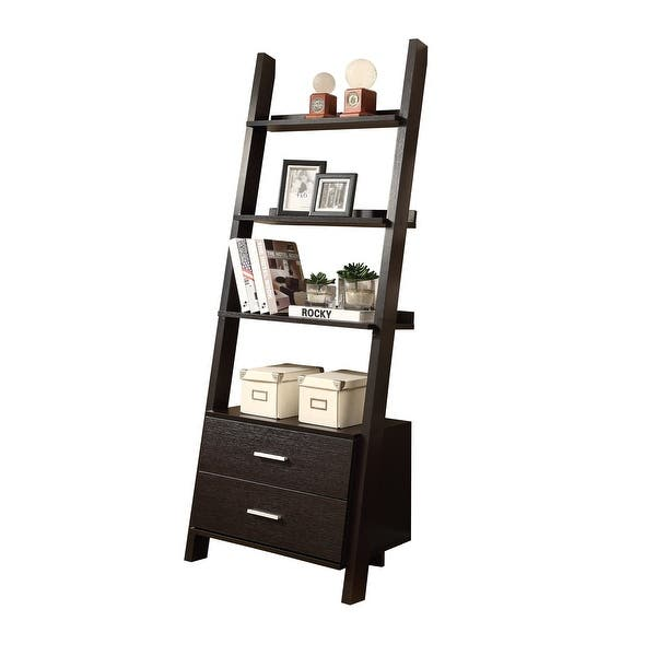 brand new e6da8 17bca Shop Monarch Specialties I 2542 69 Inch Tall Ladder Shelving ...
