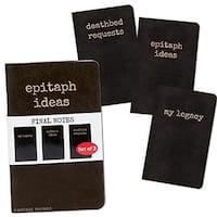 Final Notes, Epitaph Idea Set of 3 Notebooks - Multi