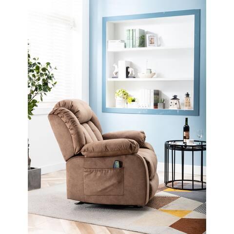 Modern Single Sofa Chair,Rocker Recliner with Massage and Heat