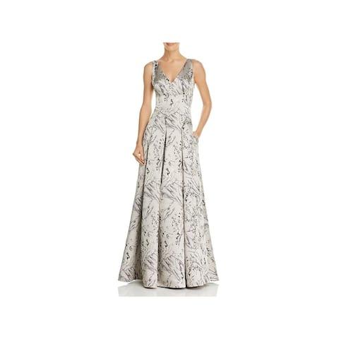 Aidan Mattox Womens Evening Dress Metallic Full-Length