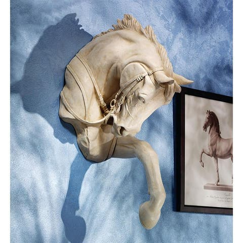 Design Toscano The Thoroughbred Horse High Relief Wall Sculpture