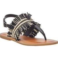 Lucky Brand Women's Akerlei Thong Sandal Black/Natural Textile
