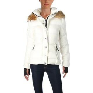 Aqua Womens Kelly Puffer Coat Winter Down