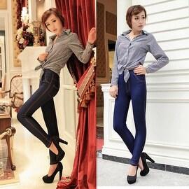 Sexy Womens Stretchy Denim Look Jeggings Ladies Skinny Pencil Jeggings Leggings