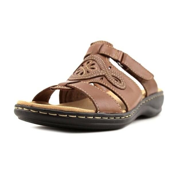 c23f77d7500b Shop Clarks Leisa Higley Women W Open Toe Leather Tan Slides Sandal ...