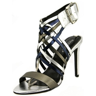 Charles By Charles David Isabel Women  Open-Toe Leather Silver Slingback Heel