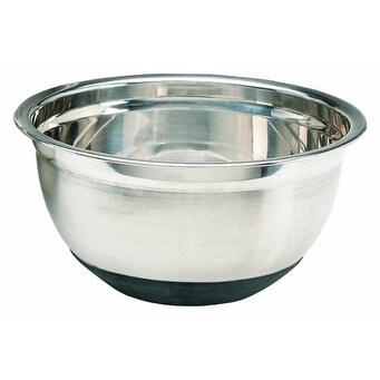 Crestware MBR03 3 Quart Stainless Steel Mixing Bowl with Rubber Base