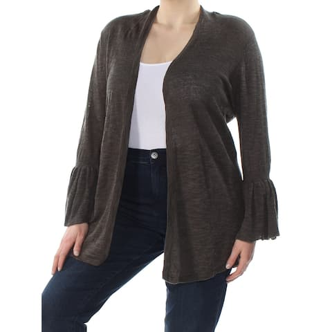 ALFANI Womens Green Bell Sleeve Open Cardigan Cardigan Size XL