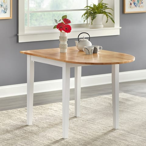 Simple Living Country Cottage Drop-Leaf Dining Table