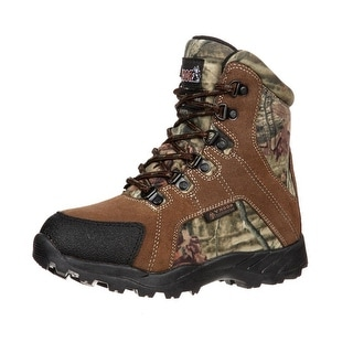 """Rocky Outdoor Boots Boys 7"""" Hunting Lace WP Mossy Oak FQ0003710"""