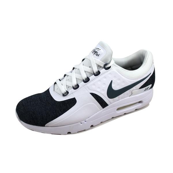 cc854e77d3 Shop Nike Men's Air Max Zero SE White/Armory Blue-Black 918232-100 ...