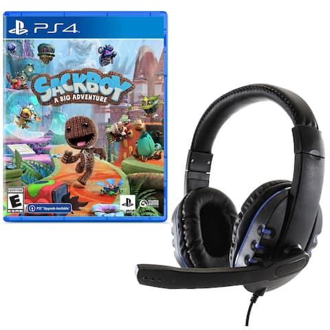 Sackboy A Big Adventure with Gaming Headset - Black