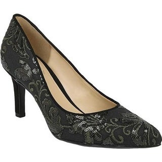 Naturalizer Women's Natalie Pump Fern Green/Embroidered Lace