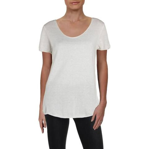Nic + Zoe Womens Pullover Sweater Cashmere Short Sleeves