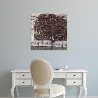 Easy Art Prints Gustav Klimt's 'The Apple Tree' Premium Canvas Art