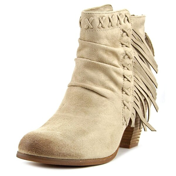 Not Rated Angie Women Round Toe Leather Tan Ankle Boot
