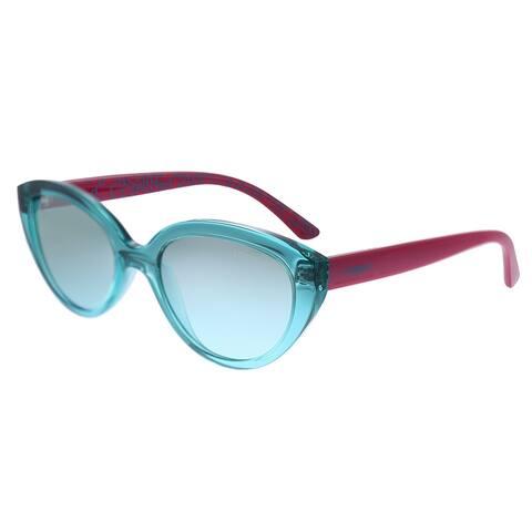 Vogue Eyewear Junior VJ 2002 27817C Childrens Transparent Green Frame Blue Gradient Mirrored Lens Sunglasses