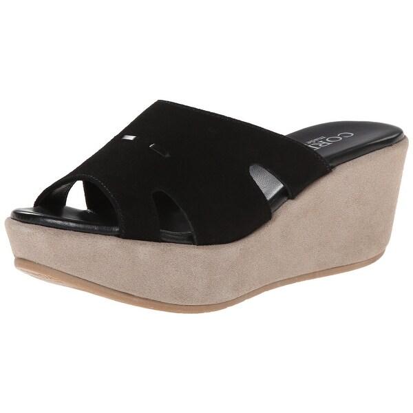 b1eddca0072 Cordani NEW Black Women  x27 s Shoes Size 9M Dayton Suede Wedge Sandal