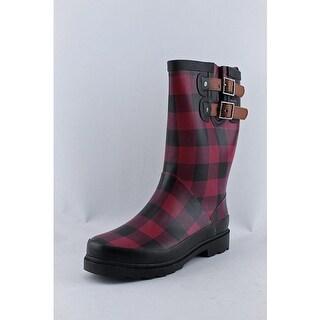 Chooka Beautiful Buffalo Round Toe Synthetic Rain Boot
