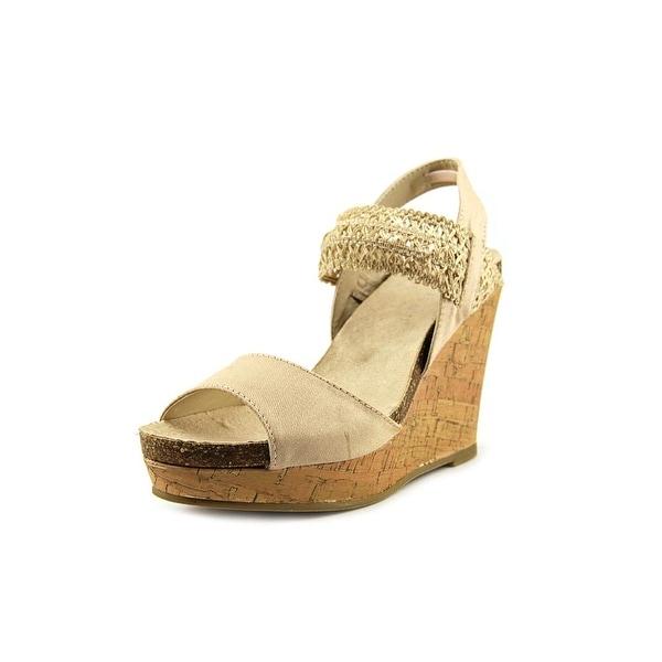 Madden Girl Feliciti Open Toe Canvas Wedge Sandal