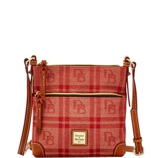 Dooney & Bourke DB Plaid Jacquard Letter Carrier (Introduced by Dooney & Bourke at $168 in Jul 2016) - Red