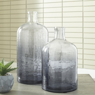 Link to Maleah Modern Ombre Navy Blue Glass Jars - Set of 2 Similar Items in Decorative Accessories