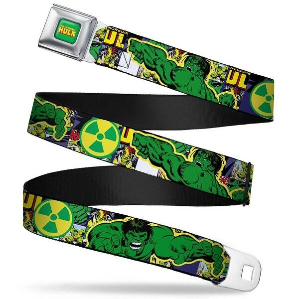 Marvel Comics The Hulk Full Color The Hulk Action Pose Radioactive Symbol Seatbelt Belt